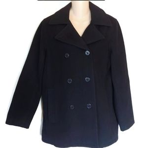 American Eagle Outfitters Black Pea Coat size S